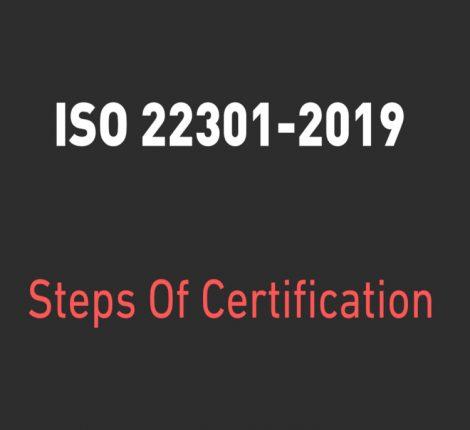 ISO 22301-2019 STEPS FOR CERTIFICATION SINGAPORE MANILA BATAM