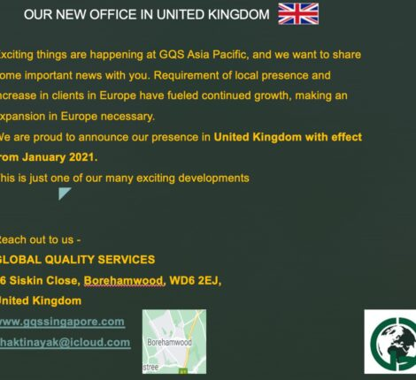 GQS is Proud to Announce Certification Support Services in UK