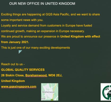 GQS is proud to announce certification support services in UK.